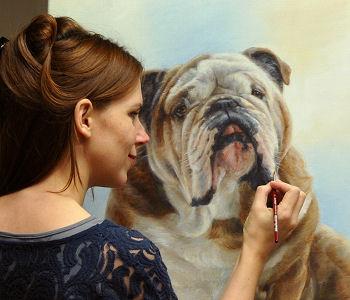 Marjolein Kruijt portretteert engelse bulldog