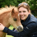 Animal Artist Marjolein Kruijt with Dartmoor pony fawn