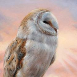 vogel kunst expositie Marjolein Kruijt Slot Zeist, galerie van Strien en Museum Mohlmann -schilderij kerkuil