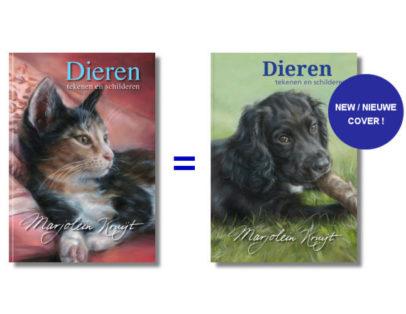 BOEK Dieren tekenen en schilderen - Marjolein Kruijt kattenkaft