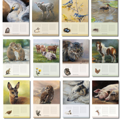 Verjaardagskalender dieren inhoud door Marjolein Kruijt