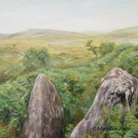 'Dartmoor view', 80x80 cm, olieverf, (te koop)
