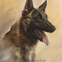 'Herder', 30x40 cm, olieverf schilderij (verkocht/opdracht)