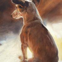 'Jack russell', 24x30 cm, olieverf schilderij (verkocht)