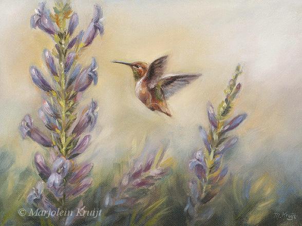 Close The Door >> Vogel schilderijen en vogelkunst door Marjolein Kruijt