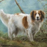 'Kooiker' portret, 60x50 cm, olieverf schilderij (verkocht/opdracht)
