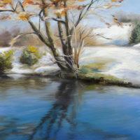 'Sneeuw', 20x30 cm, olieverf schilderij, (te koop)