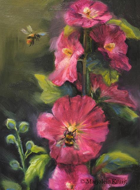 Geliefde Flora, bloemen en vlinder schilderijen - Marjolein Kruijt &JK09