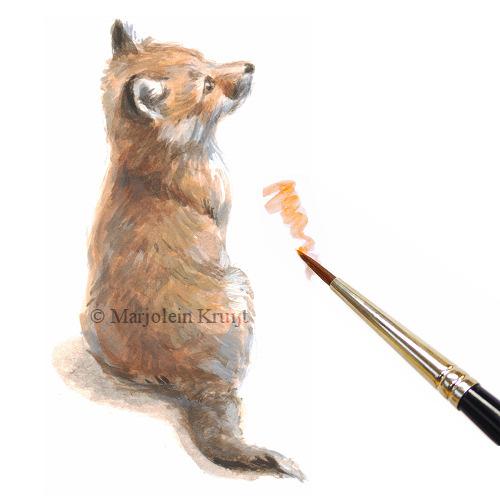illustratie vosje marjolein kruijt