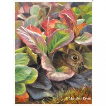 Schilderij jong konijntje door Marjolein Kruijt (te koop)