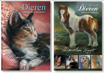 Boeken dieren tekenen en schilderen deel 1 en 2 door Marjolein Kruijt