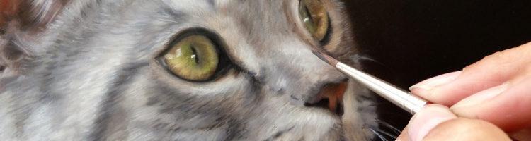 Workshop dieren tekenen en schilderen in olieverf, aquarel, acryl, pastel, houtskool, potlood bij Marjolein Kruijt