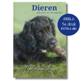 Boek Dieren tekenen en schilderen met Marjolein Kruijt - JUBILEUM editie 5e druk