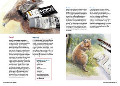 Boek dieren tekenen en schilderen met Marjolein Kruijt-ACRYL-preview
