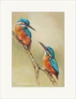 Reproductie schilderij ijsvogels - Marjolein Kruijt