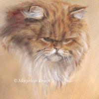 'Pers', katten schilderij, Marjolein Kruijt