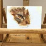Kattenoog studie schilderij in olieverf (te koop) - Marjolein Kruijt