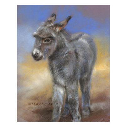 'Ezeltje', pastel schilderij / tekening (te koop)