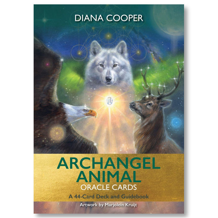 The Archangel Animal Oracle Card deck - Marjolein Kruijt schilderijen & Diana Cooper auteur