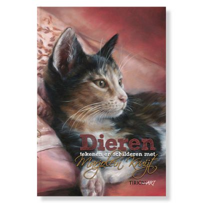 Boek Dieren tekenen en schilderen met Marjolein Kruijt - poezenkaft 2e druk