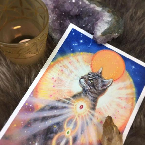 Archangel Animal Orakel kaarten PRINTS kunstdrukken giclées