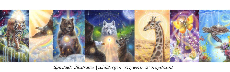 Spirituele schilderijen en illustraties Marjolein Kruijt