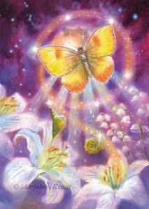 'Vlinder' - metamorfose, olieverf schilderij (gepubl. als oracle card)