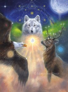 Cover schilderij Archangel Animal oracle card deck - wolf, bald eagle, stag