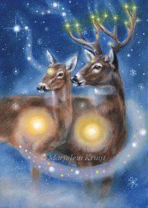 'Hert', olieverf schilderij (gepubl. als oracle card)