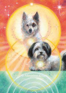 'Honden', olieverf schilderij (gepubl. als oracle card)