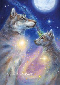 'Wolf', olieverf schilderij (gepubl. als oracle card)