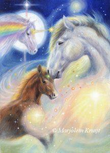 'Paard', olieverf schilderij (gepubl. als oracle card)