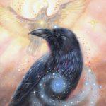 'Raaf', olieverf schilderij (gepubl. als oracle card)