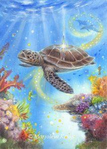 'Schildpad', olieverf schilderij (gepubl. als oracle card)