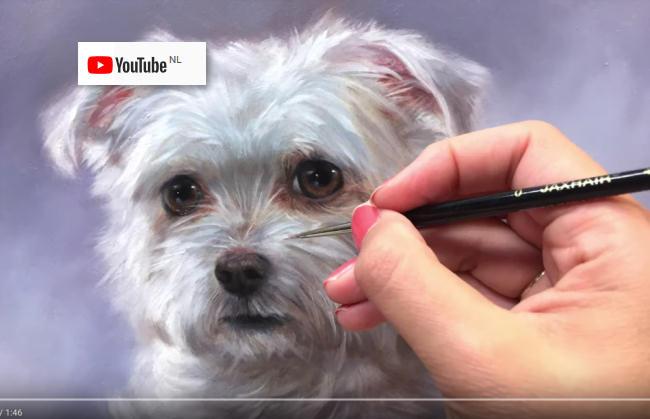 Video dierportretten schilderen door Marjolein Kruijt