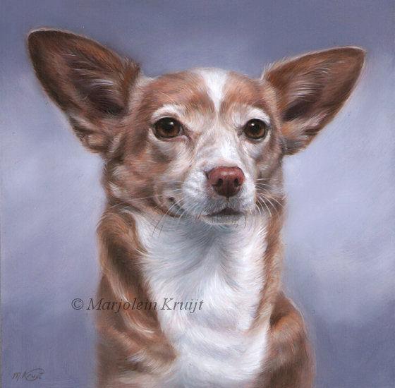 'Moenie', 20x20 cm, olieverf schilderij | portret (verkocht/opdracht)
