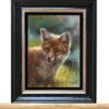 Schilderij vos -jong vosje, olieverf (te koop)