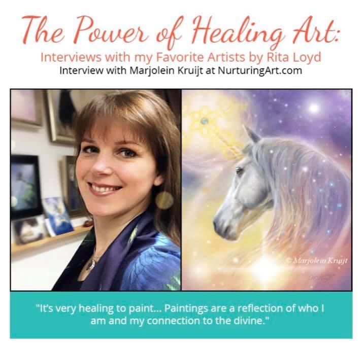 Marjolein Kruijt interview spiritele kunst eenhoorns en krachtdieren