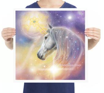 'Eenhoorn'- aarde heling, kunstreproductie artprint - Marjolein Kruijt