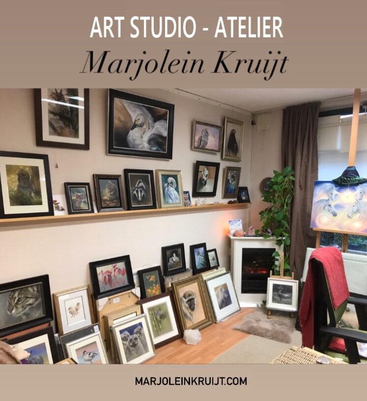 Online kunst kopen tijdens corona covid19 expositie-galerie - kunstenaar atelier Marjolein Kruijt