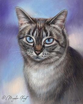 'Uthai', portret in pastel (verkocht)