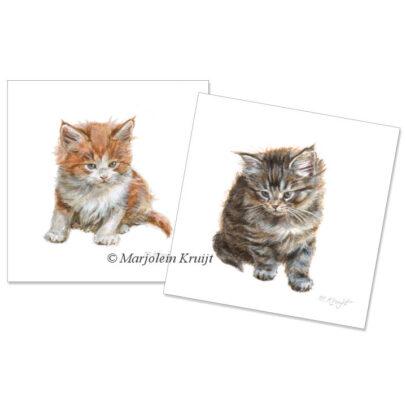 2 Kitten Artprints - klaar om in te lijsten