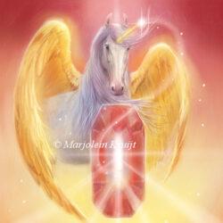 Unicorn - Ruby Oracle card Diana Cooper, Marjolein Kruijt