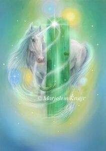 (31) cosmic emerald- kosmische smaragd - Archangel Raphael oracle card / orakelkaart