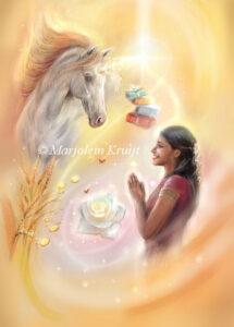 (24) shower of blessings - zegening door de eenhoorns illustratie